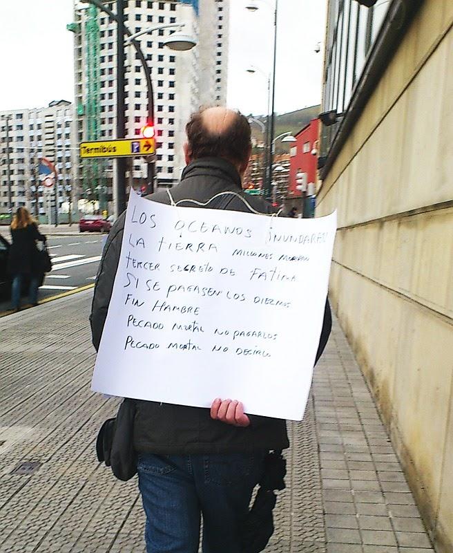 cartel,profeta,apocalíptico,Bilbao,Fátima