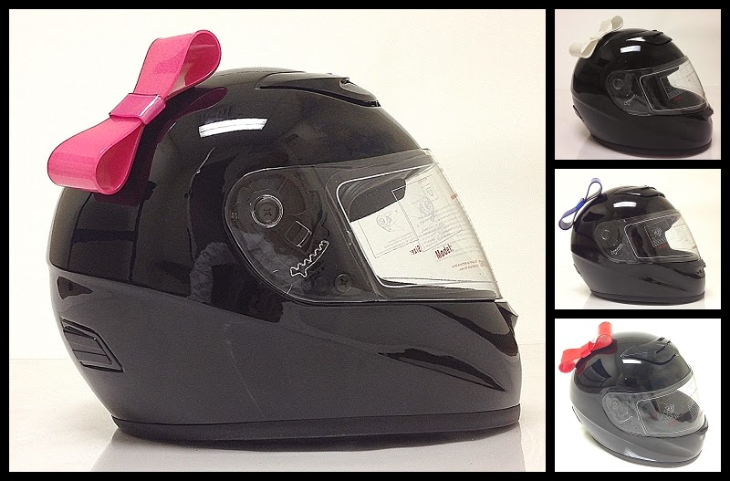 Motorcycle Helmet Bows