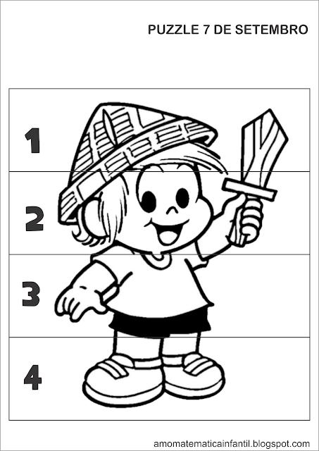Puzzle 7 de Setembro Turma da Mônica