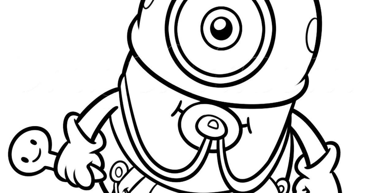 Pinto Dibujos Minion Bebe para colorear