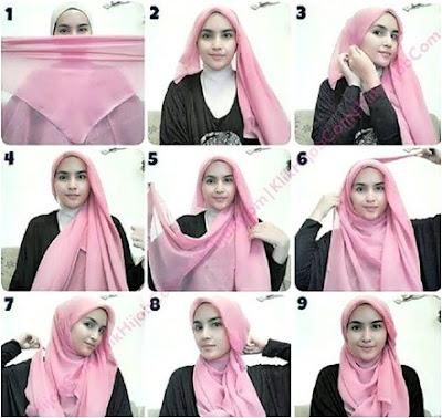 Tutorial Sederhana Cara Pakai Hijab Paris Terbaru