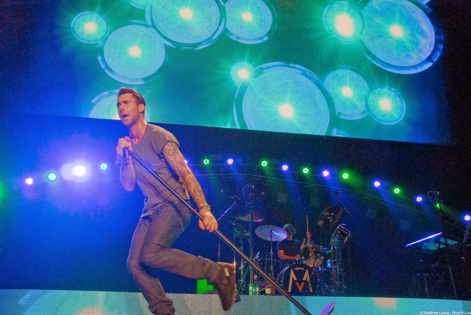 Maroon 5 Adam Levine Bercy 2013 Rock'n'Live Report Paris Concert Delphine Leang This Love
