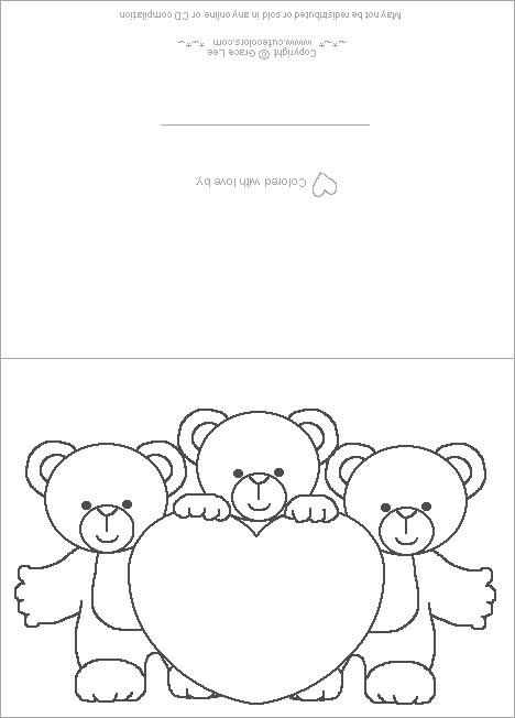 Tarjetas para colorear de amistad - Imagui
