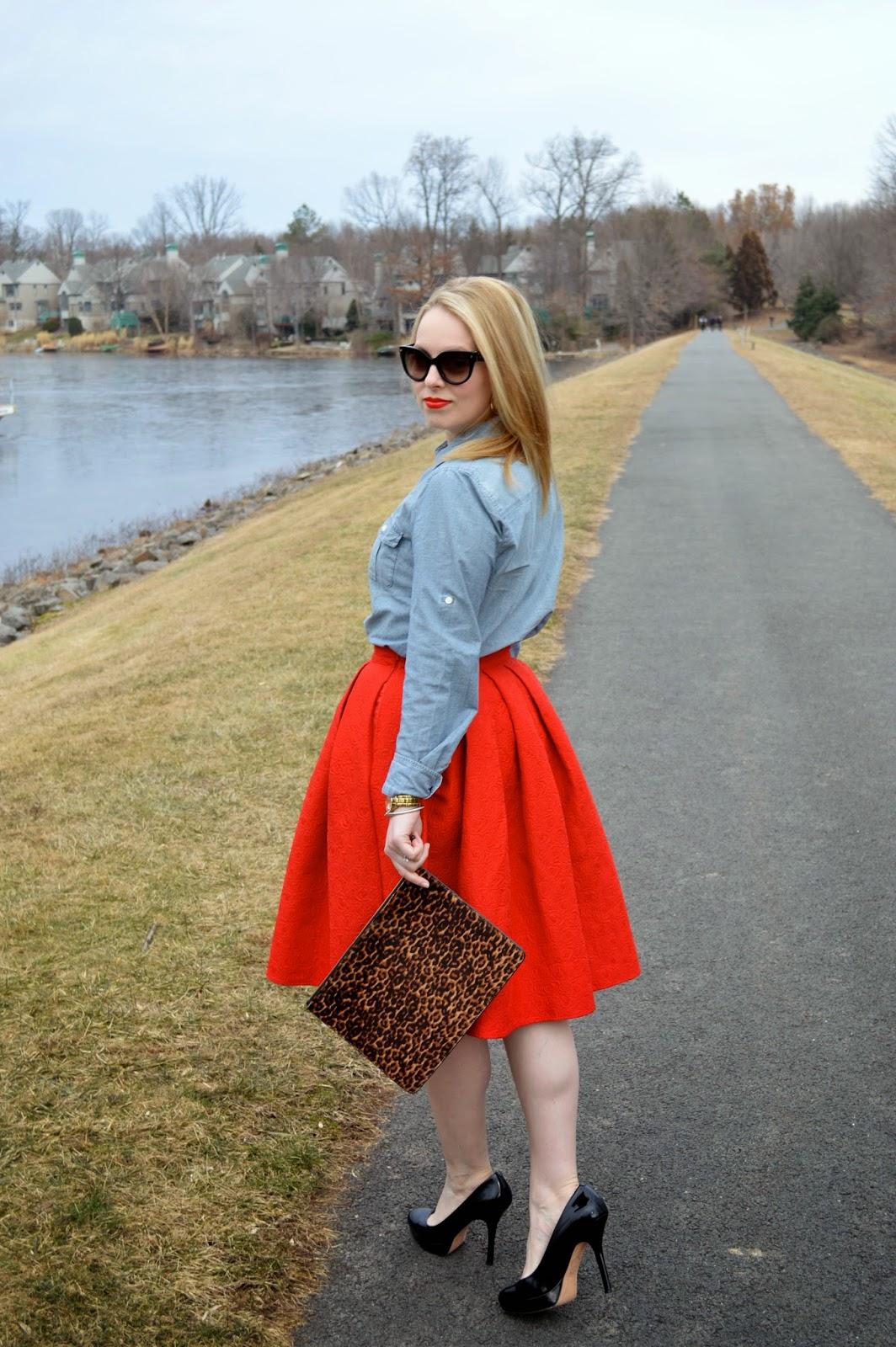 red-chic-wish-midi-skirt