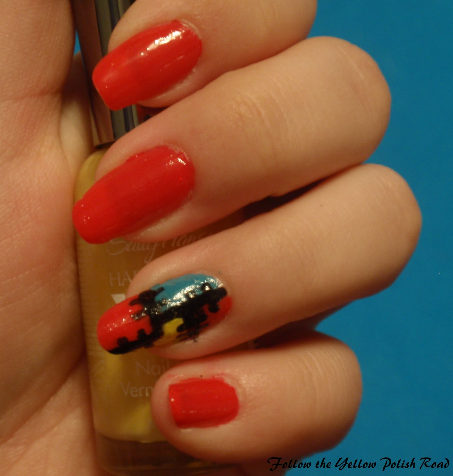Follow the Yellow Polish Road: Patchwork Nails