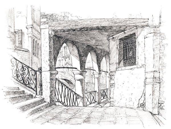 Urban sketchers italy venezia in bianco e nero 2 for Disegni bianco e nero paesaggi