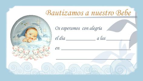 invitaciones para bautizo para imprimir: