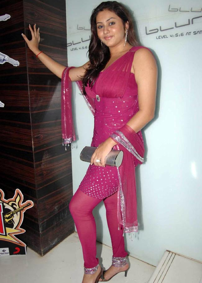 Namitha in red churidar suit - HOT Namitha in red churidar suit - HOT