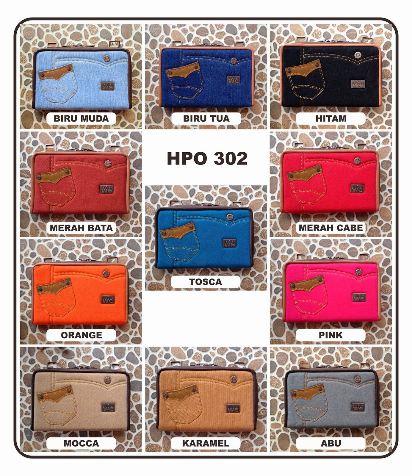 dompet jeans hpo just we 302 design terbaru