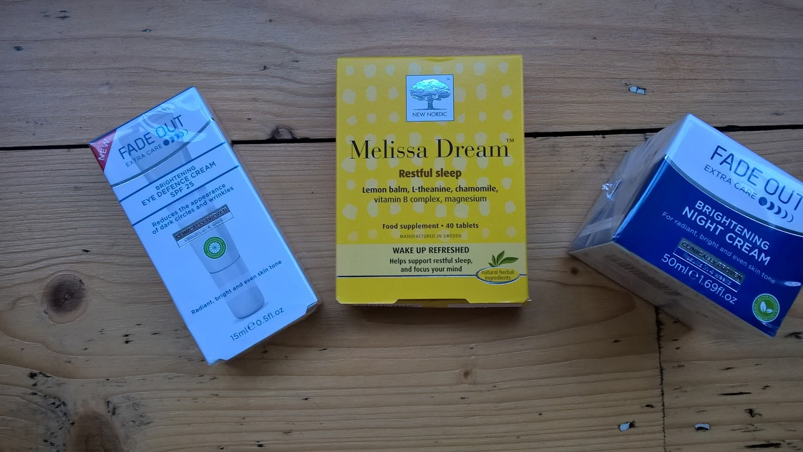 Fade Out Night Cream, Eye Cream & New Nordic Melissa Dream Tablet - giveaway - motherdistracted.co.uk
