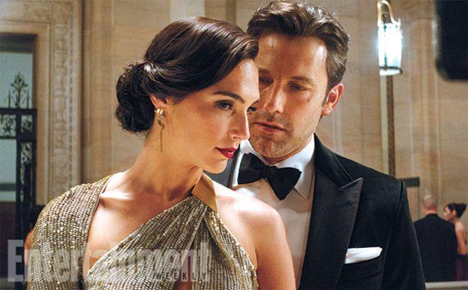 Gal Gadot y Ben Affleck como Diana Prince y Bruce Wayne en Batman V Superman