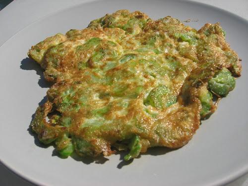 Omelet met bittermeloen