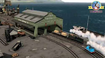 Coastal seaport Brendam sea harbor Thomas the tank engine and friends DVD Blue mountain mystery film