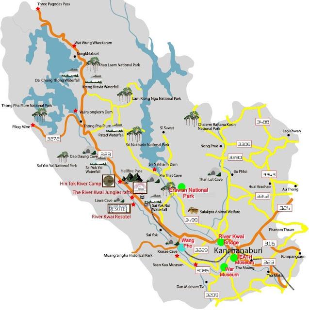 Mapa-Kanchanaburi