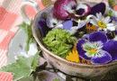 Una tazza piena di fiori e foglie