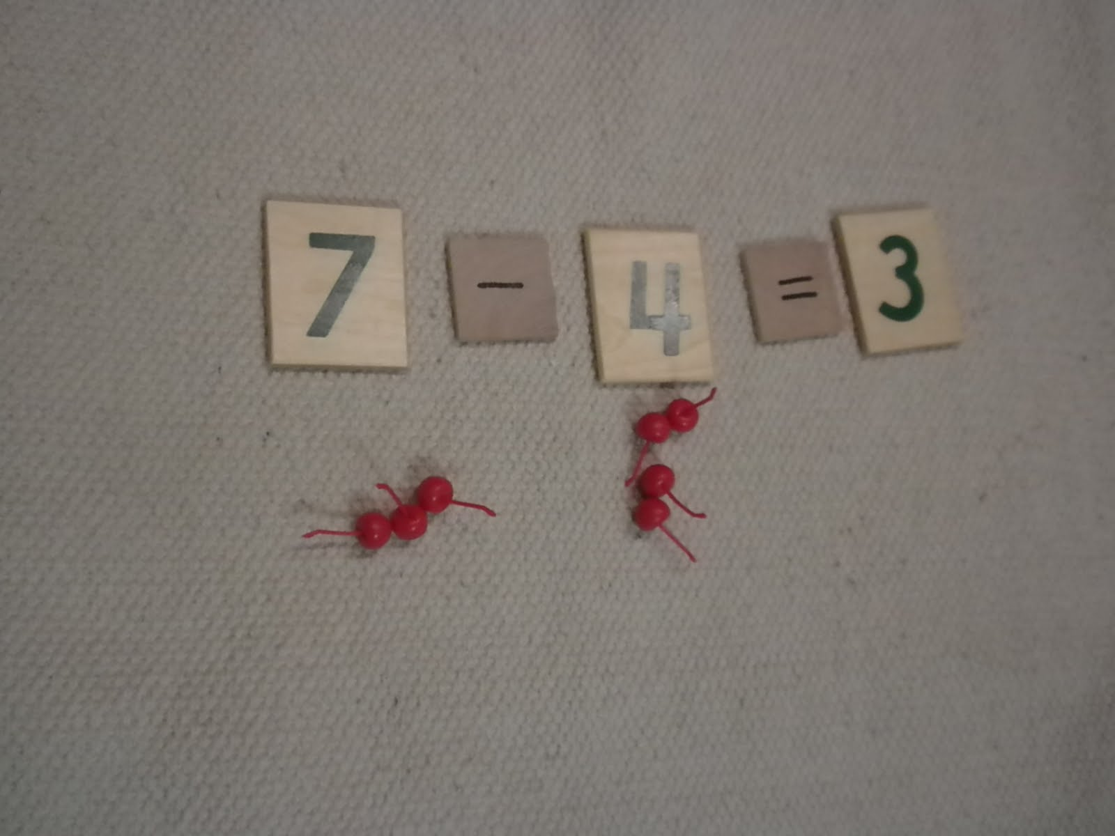 """Apple"" Subtraction (Photo from Discovery Days and Montessori Moments)"