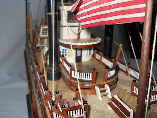 mississippi paddlewheel steamboat scale model