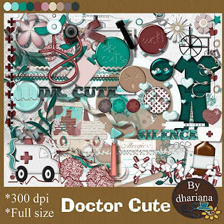 "Free scrapbook kit ""Doctor Cute"" from Dhariana Scraps"