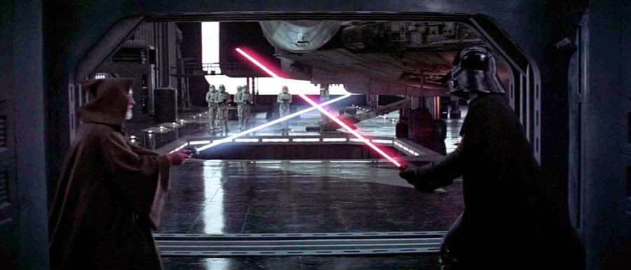 obi wan fights vader on the Death Star