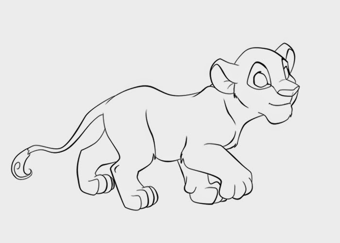 free lion cub coloring pages - photo#4
