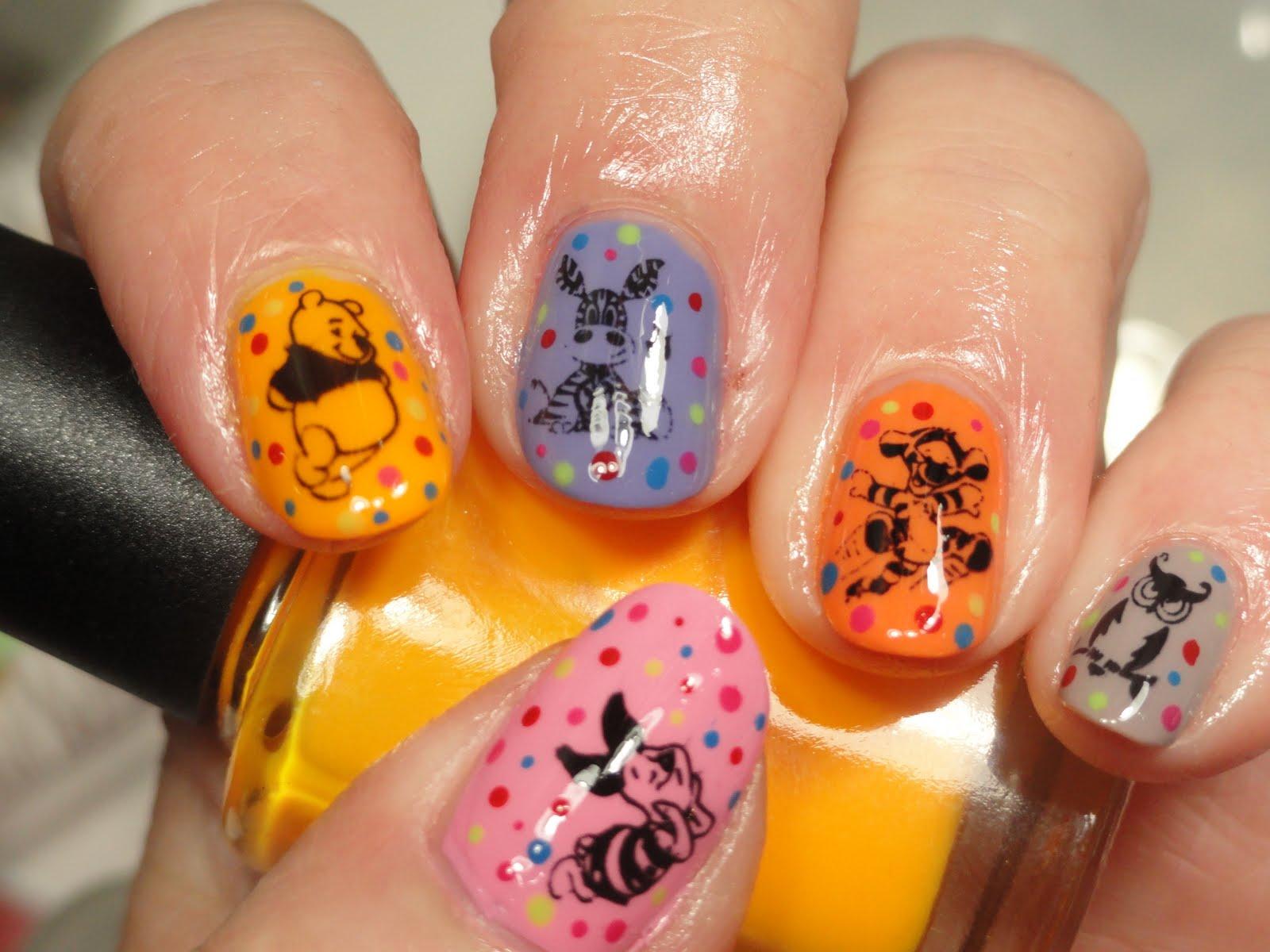 Diseños de Uñas de Winnie the Pooh
