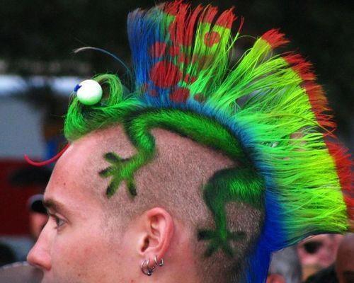 Corte de pelo hombre iguana