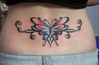 Butterfly Tattoo on Lower Back