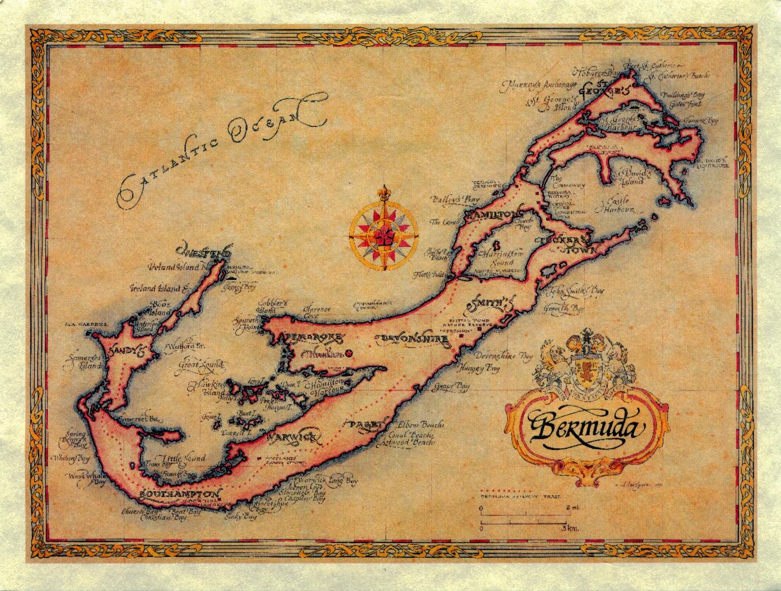 WORLD COME TO MY HOME 10811082 22872288 UNITED KINGDOM – Bermuda Tourist Map