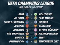 Jadwal Hasil Drawing Liga Champions Terbaru Babak 16 Besar
