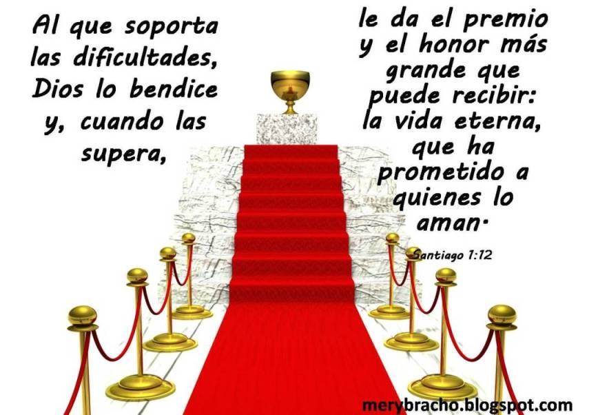 postal cristiana Dios te bendice en medio de problemas Dios bendice al que soporta dificultades