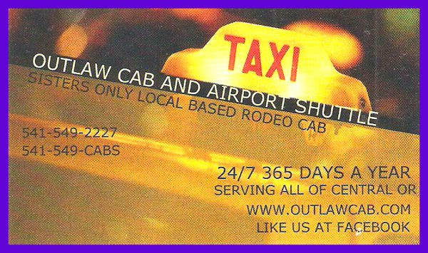 Outlaw Cab & Airport Shuttle in Sisters Oregon