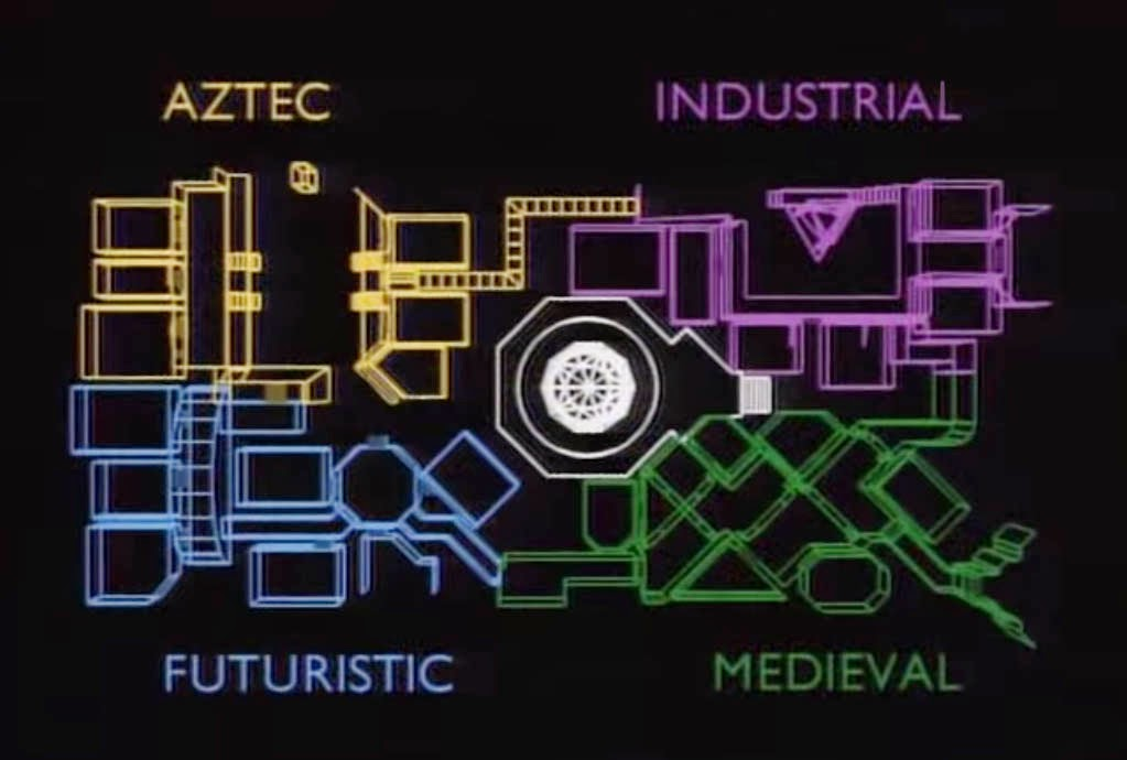 The Crystal Maze Set Map 90's British Phenomenal Game Show