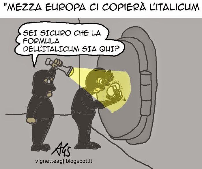 Italicum, legge elettorale, Renzi, satira, vignetta