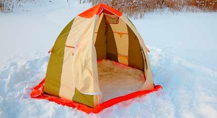 Зонтичные палатки для зимней рыбалки