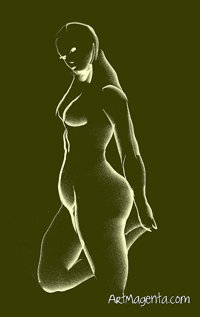 Life drawing from a nude model by ArtMagenta