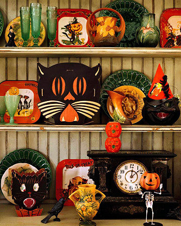 vintage Halloween decorations retro
