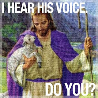 I hear his voice. Do you?