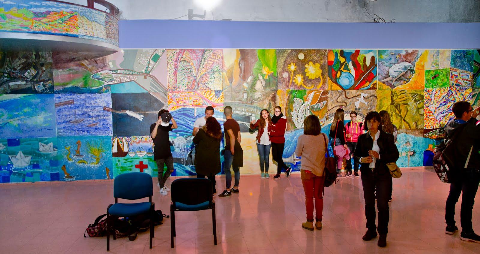 Las 7 mejores fotos del nuevo mural del c rculo de bellas for Arte colectivo mural