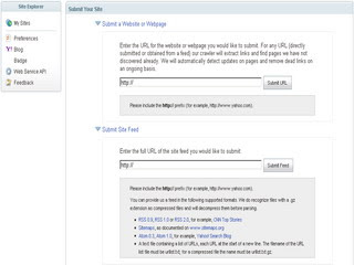 Submit blog dan rss feed di yahoo