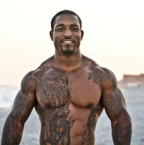 Black musclemen Nude Photos 92