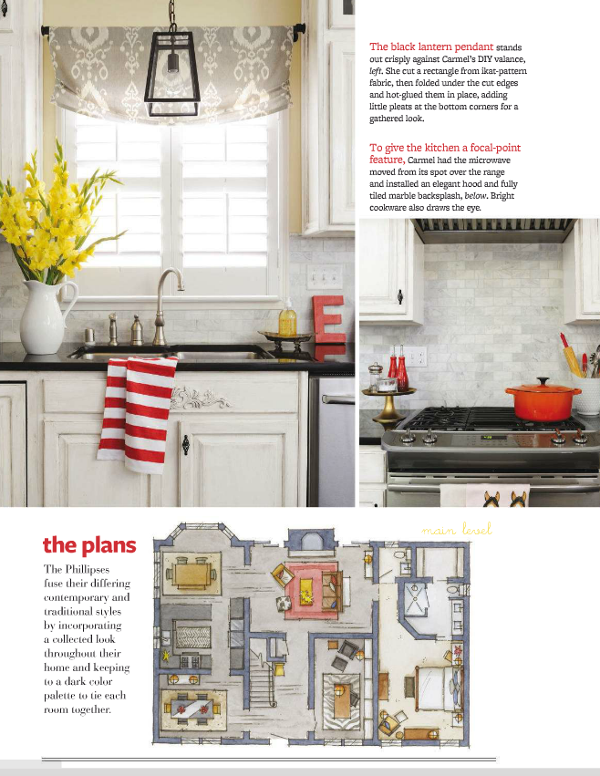 our fifth house - better homes & gardens refresh magazine article