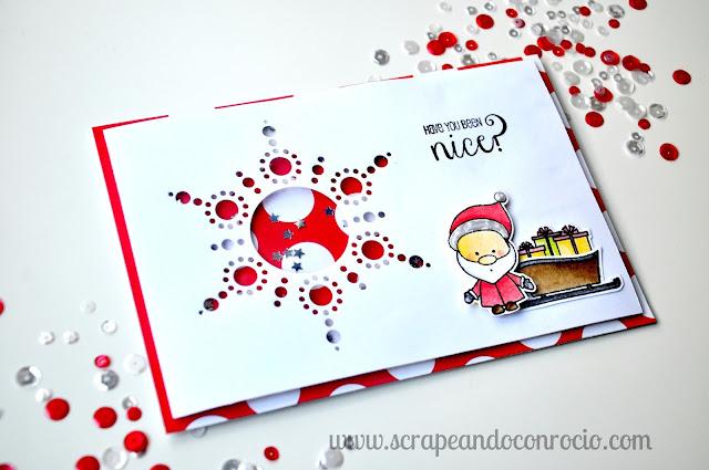 Tarjetas Navidadeñas Scrapbooking