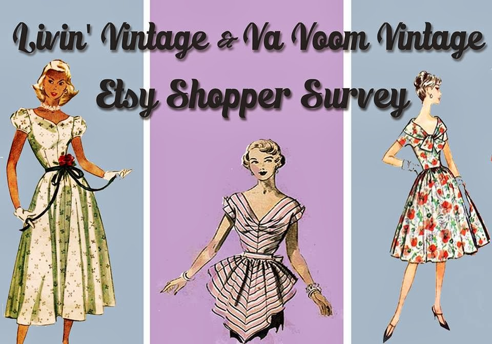 Etsy Shopper Survey And A Giveaway Va Voom Vintage Vintage Fashion Hair Tutorials And Diy Style