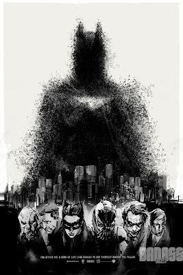 San Diego Comic-Con 2012 Exclusive The Dark Knight Rises Variant Screen Print by Jock