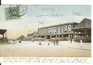 postcard, salisbury beach, massachusetts, cushing, resort, summer, vacation