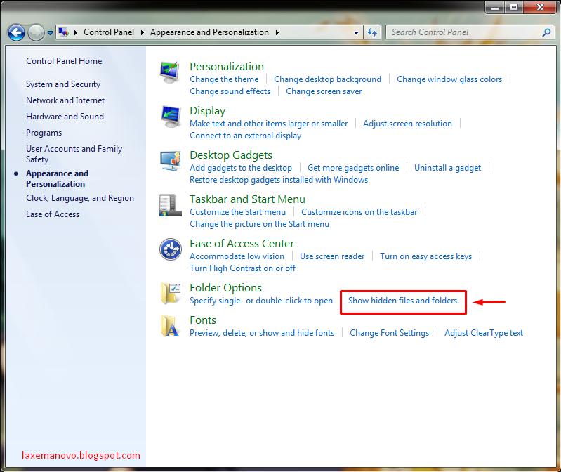 Cara Menampilkan Folder dan File yang Disembunyikan di Windows 7