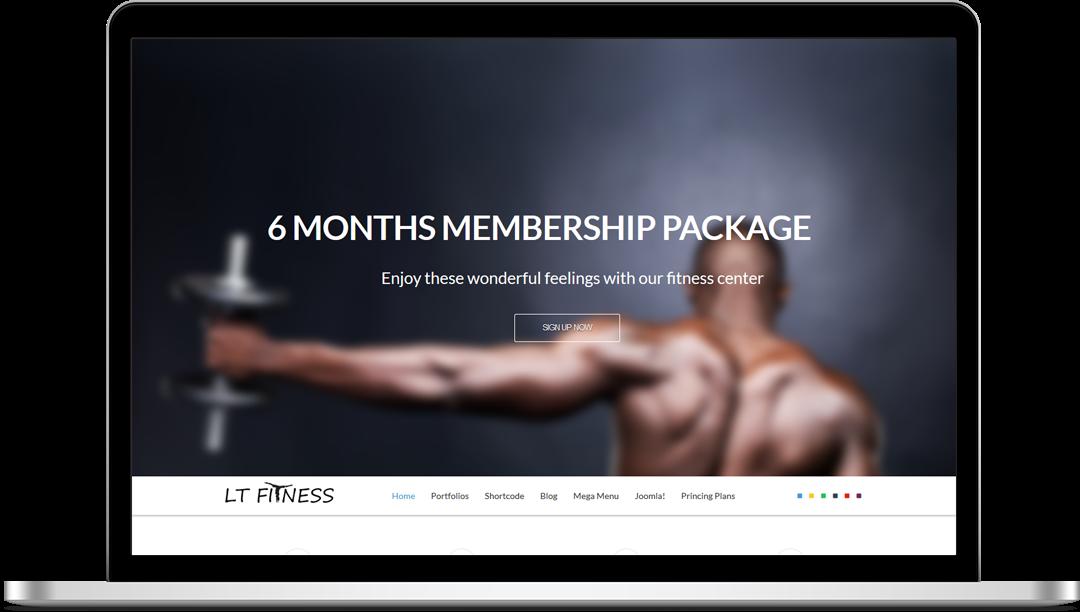 LT Fitness Onepage - Free Joomla! Template