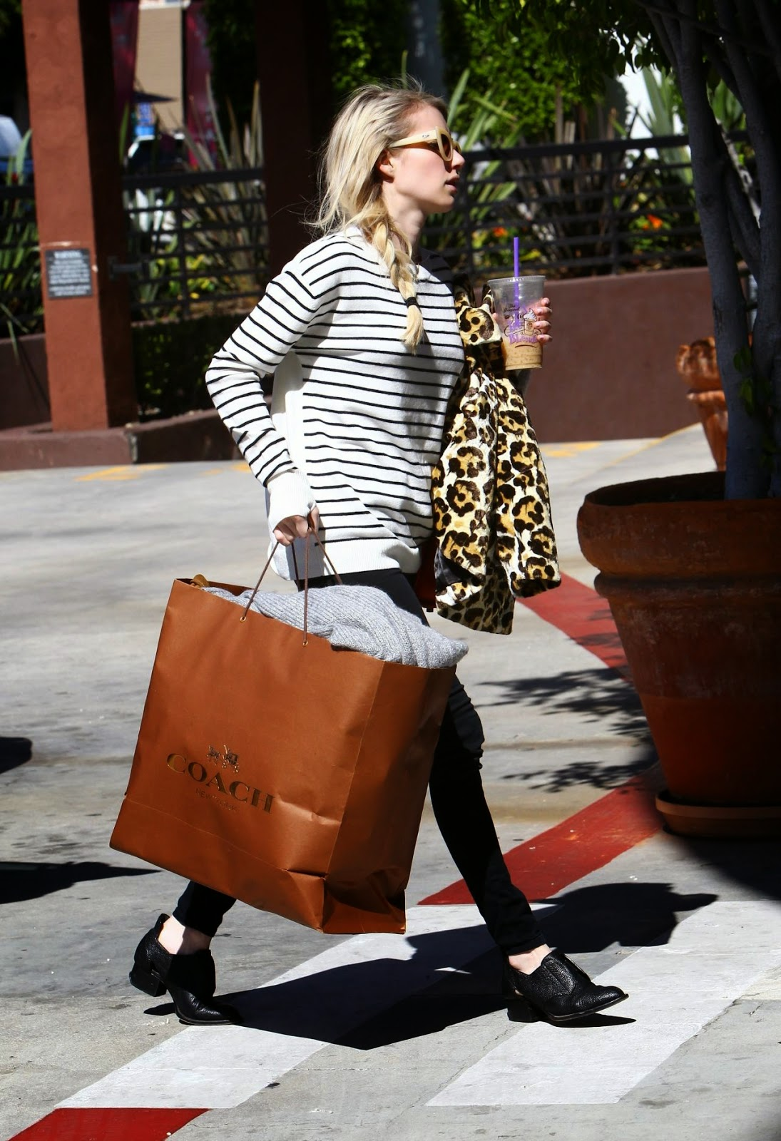 Actress, Singer @ Emma Roberts - Leaving Her Home in Los Angeles