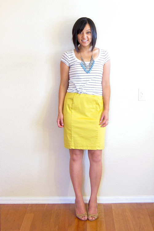 putting me together two ways striped top statement