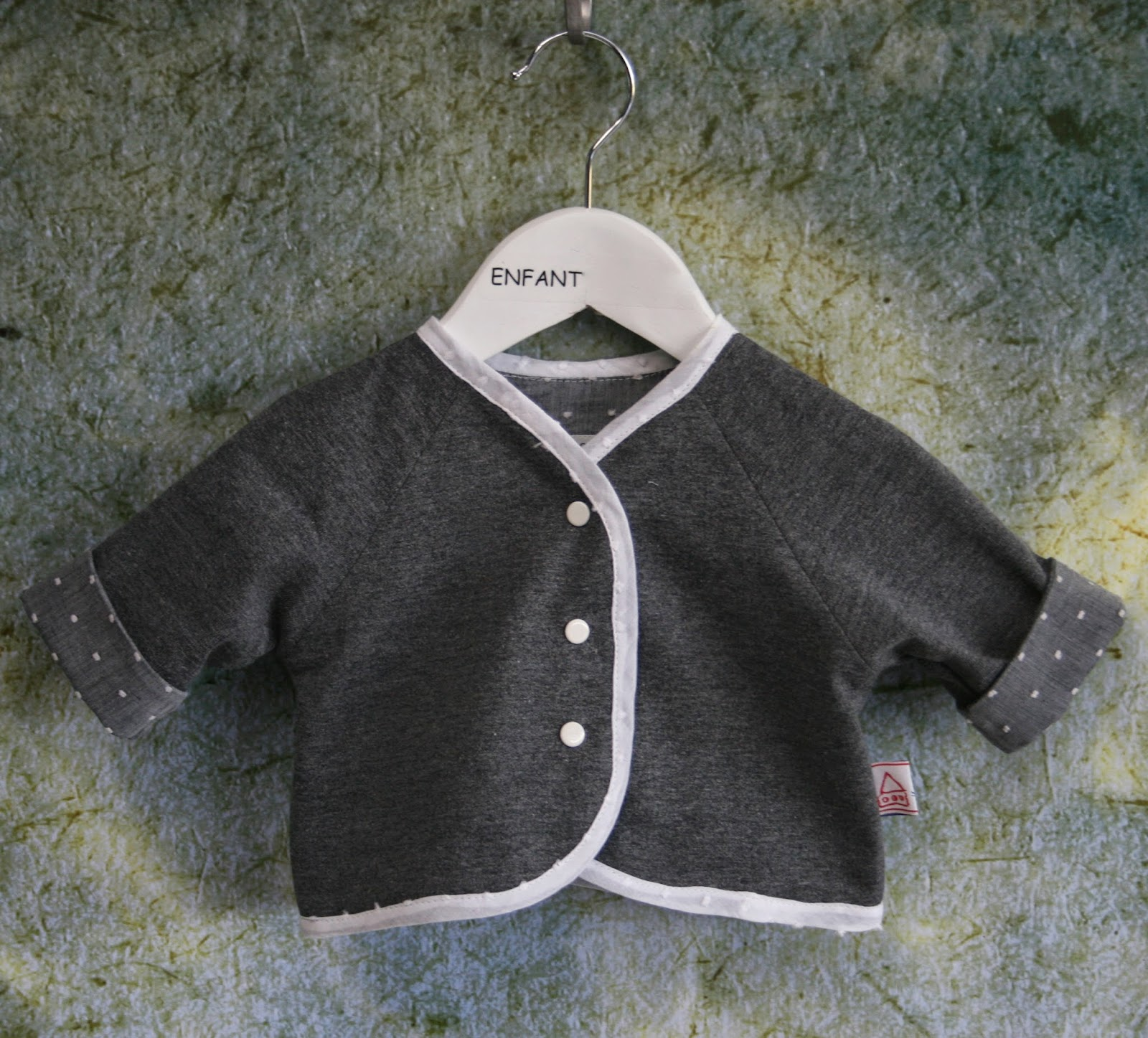 Five And Counting Baby Olive Basic Cardy Cardigan